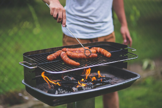 Take special care when having a barbecue or near any kind of flame